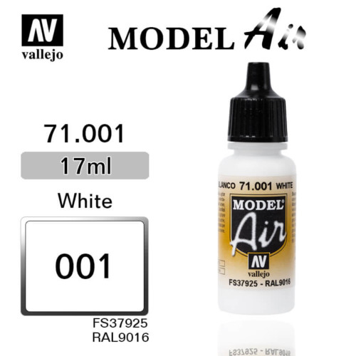 VALLEJO MODEL AIR 71.001 WHITE
