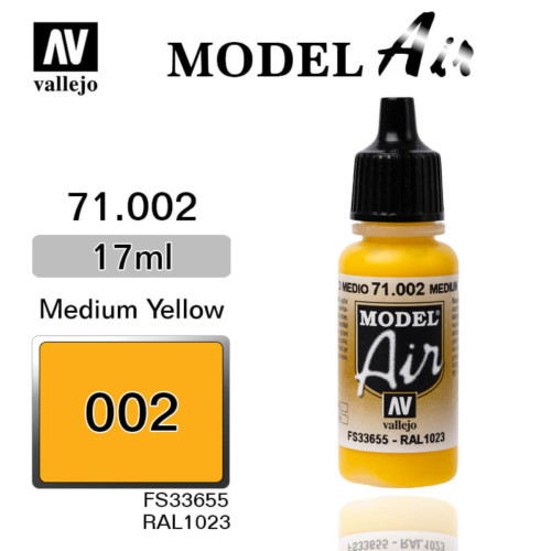 VALLEJO MODEL AIR 71.002 YELLOW