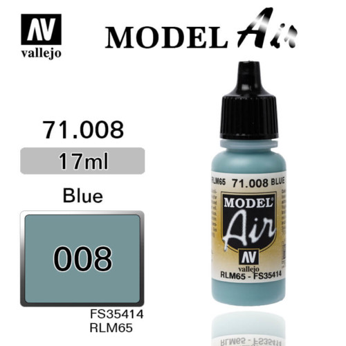 VALLEJO MODEL AIR 71.008 PALE BLUE