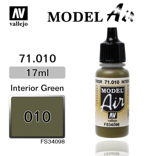 VALLEJO MODEL AIR 71.010 INTERIOR GREEN