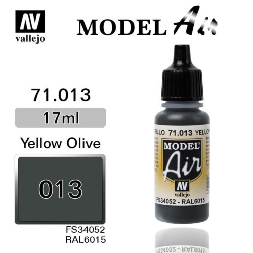 VALLEJO MODEL AIR 71.013 YELLOW OLIVE
