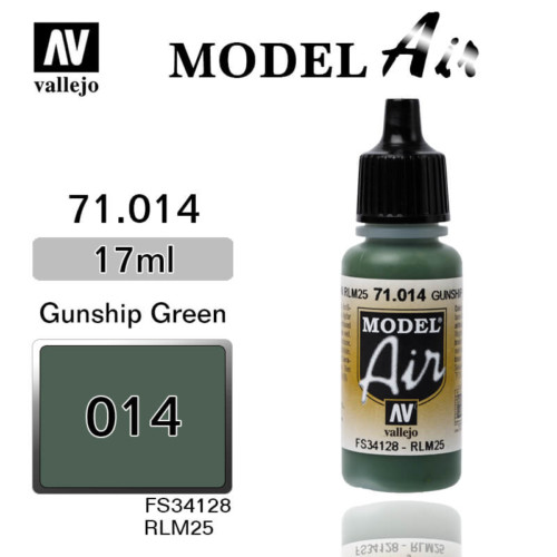 VALLEJO MODEL AIR 71.014 GUNSHIP GREEN