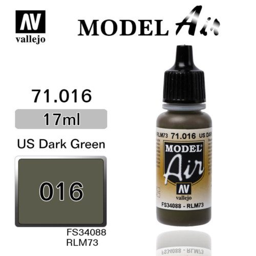 VALLEJO MODEL AIR 71.016 US DARK GREEN