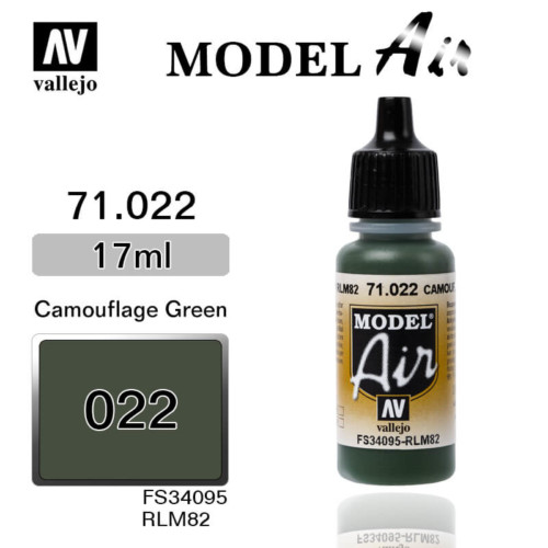 VALLEJO MODEL AIR 71.022 CAMOUFLAGE GREEN