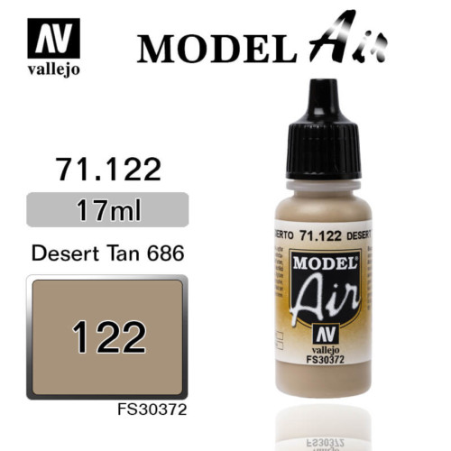VALLEJO MODEL AIR 71.122 DESERT TAN 686