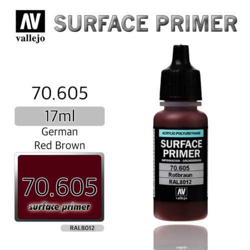 VALLEJO PRIMER 70.605 GERMAN RED BROWN 17ml