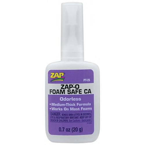 Κυανοακρυλική Κόλλα PLASTI ZAP-O FOAM SAFE CA 0.7oz 20gr PT-25