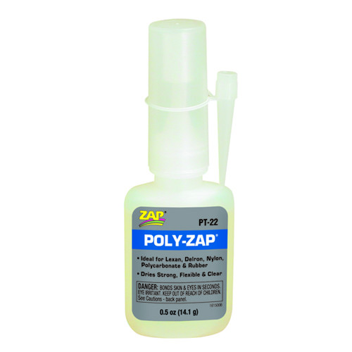 Κυανοακρυλική Κόλλα POLY-ZAP 0.5oz (14.1gr) PT-22