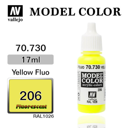 VALLEJO MODEL COLOR 70.730 YELLOW FLUO