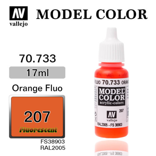 VALLEJO MODEL COLOR 70.733 ORANGE FLUO