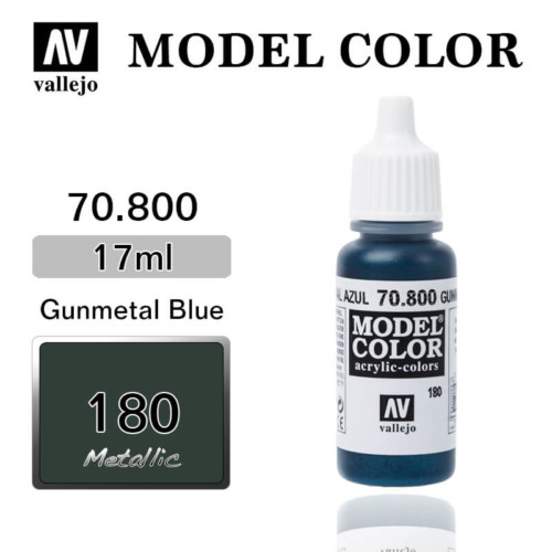 VALLEJO MODEL COLOR 70.800 GUNMETAL BLUE