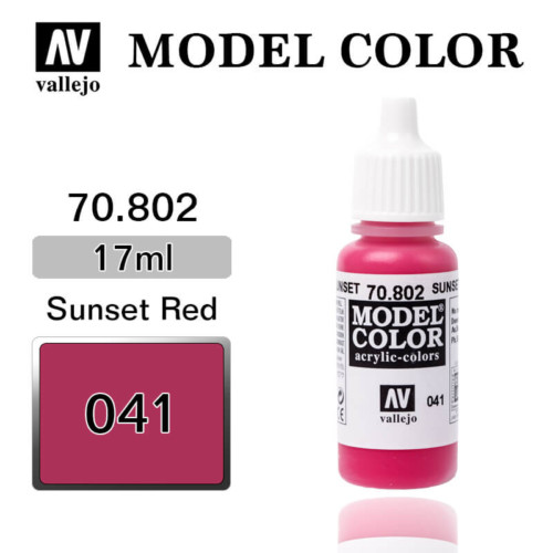 VALLEJO MODEL COLOR 70.802 SUNSET RED