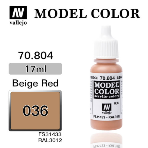 VALLEJO MODEL COLOR 70.804 RED BEIGE