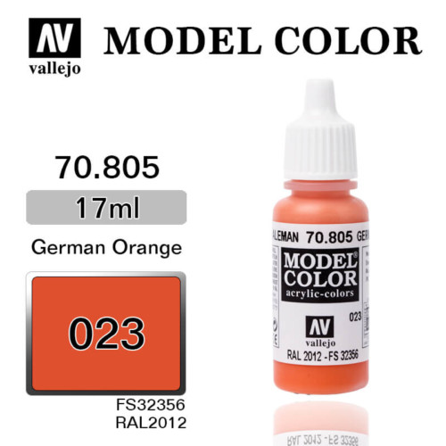 VALLEJO MODEL COLOR 70.805 GERMAN ORANGE