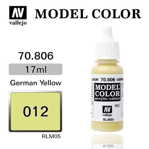 VALLEJO MODEL COLOR 70.806 GERMAN LAZUR YELLOW