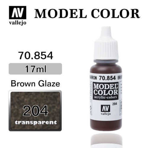 VALLEJO MODEL COLOR 70.854 BROWN GLAZE