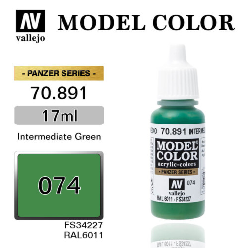 VALLEJO MODEL COLOR 70.891 INTERMEDIATE GREEN