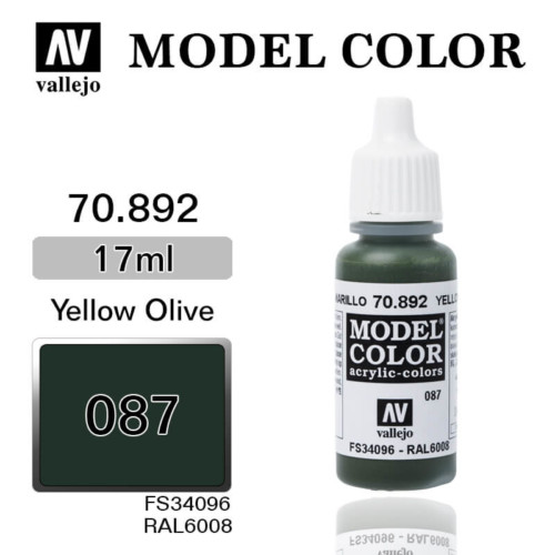 VALLEJO MODEL COLOR 70.892 YELLOW OLIVE