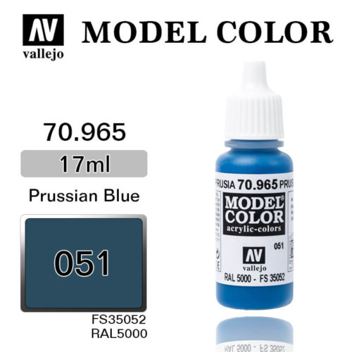VALLEJO MODEL COLOR 70.965 PRUSSIAN BLUE