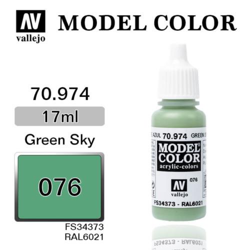 VALLEJO MODEL COLOR 70.974 GREEN SKY