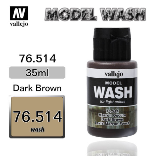 Vallejo Wash 76.514 DARK BROWN