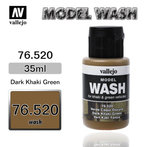 Vallejo Wash 76.520 DARK KHIKI GREEN