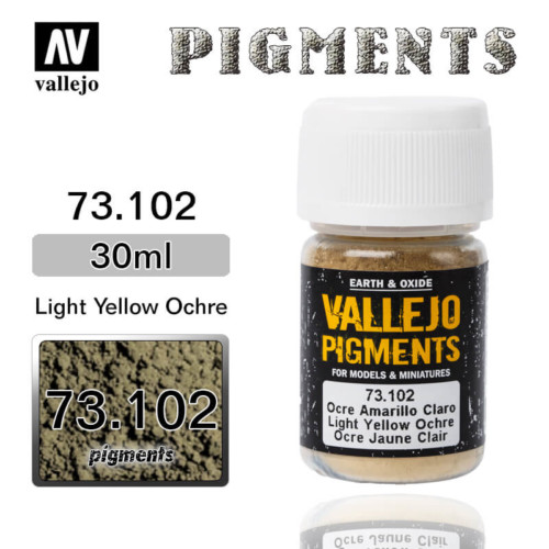 Vallejo Pigment 73.102 LIGHT YELLOW OCHRE