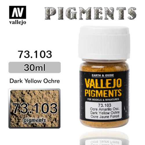 Vallejo Pigment 73.103 DARK YELLOW OCHRE