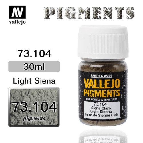 Vallejo Pigment 73.104 LIGHT SIENA