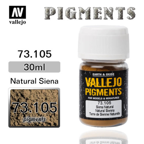 Vallejo Pigment 73.105 NATURAL SIENA