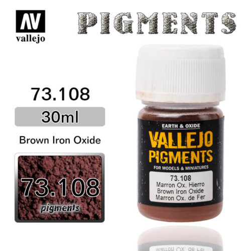 Vallejo Pigment 73.108 BROWN IRON OXIDE