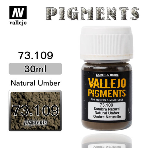 Vallejo Pigment 73.109 NATURAL UMBER