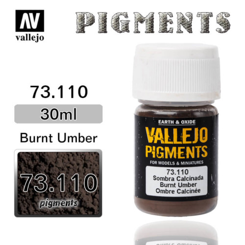 Vallejo Pigment 73.110 BURNT UMBER