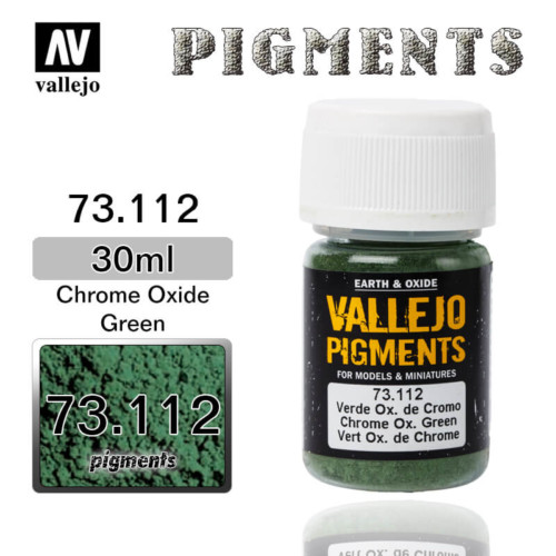 Vallejo Pigment 73.112 CHROME OXIDE GREEN