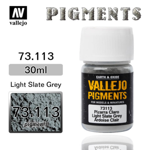 Vallejo Pigment 73.113 LIGHT SLATE GREY