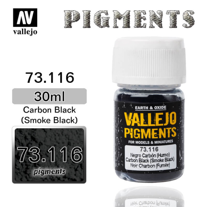 Vallejo Pigment 73.116 CARBON BLACK