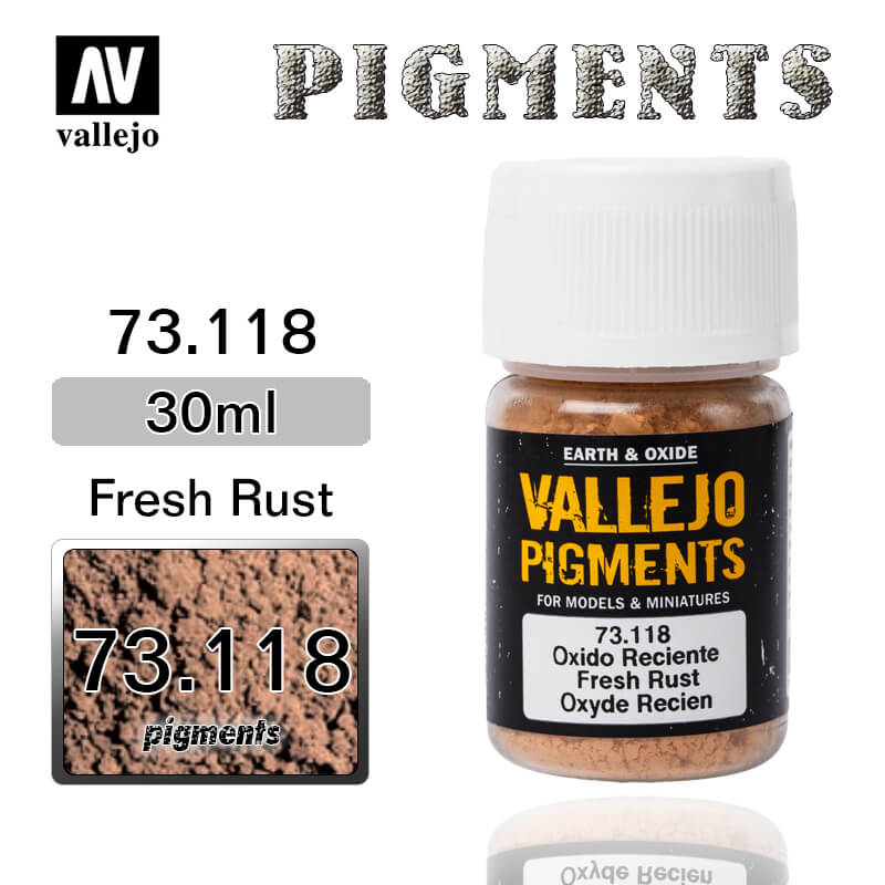 Vallejo Pigment 73.118 FRESH RUST