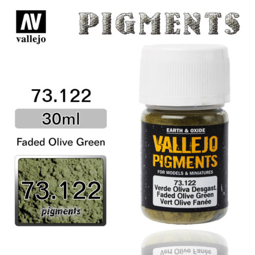 Vallejo Pigment 73.122 FADED OLIVE GREEN