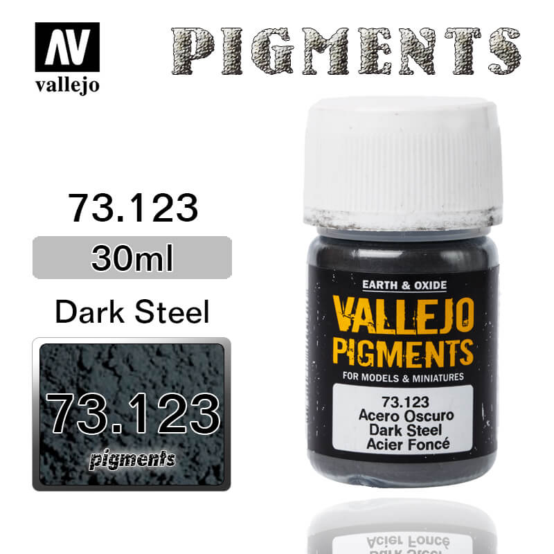 Vallejo Pigment 73.123 DARK STEEL