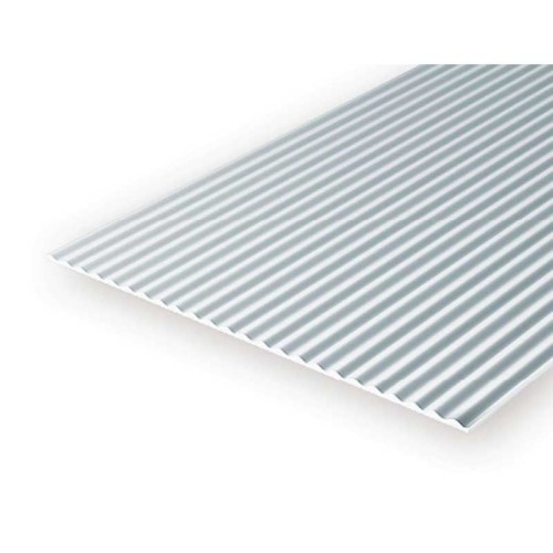 EverGreen Κυματιστη Λαμαρινα φύλλο πλαστικού 15x30 cm x 1mm Λευκό