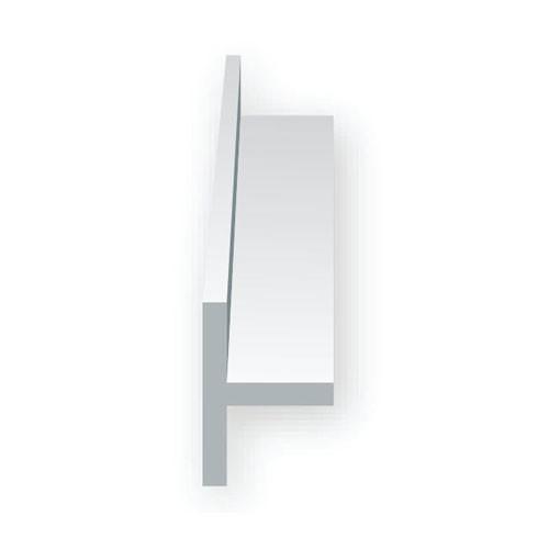 EverGreen Πλαστική Δοκός Τ 35mm Λευκή