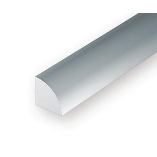 EverGreen Πλαστική Ράβδος Τεταρτημόριο 35mm Λευκή