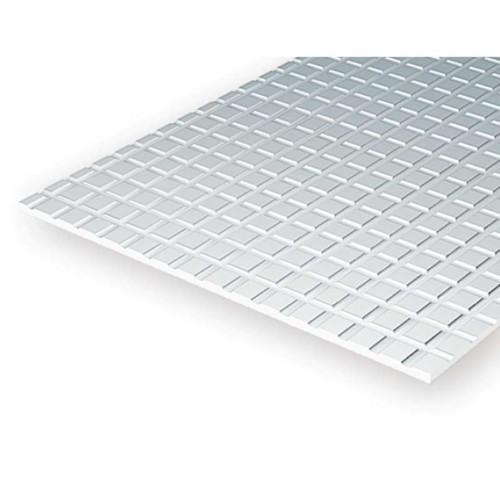EverGreen Πεζοδρόμιο φύλλο πλαστικού 15x30 cm x 1mm Λευκό