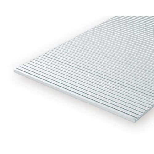 EverGreen Γραμμωτό Φύλλο Πλαστικού 15 x 30 cm Λευκό