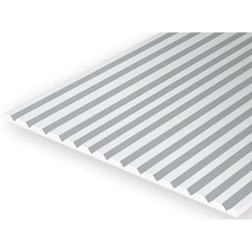 EverGreen V-Groove φύλλο πλαστικού 15 x 30 cm Λευκό