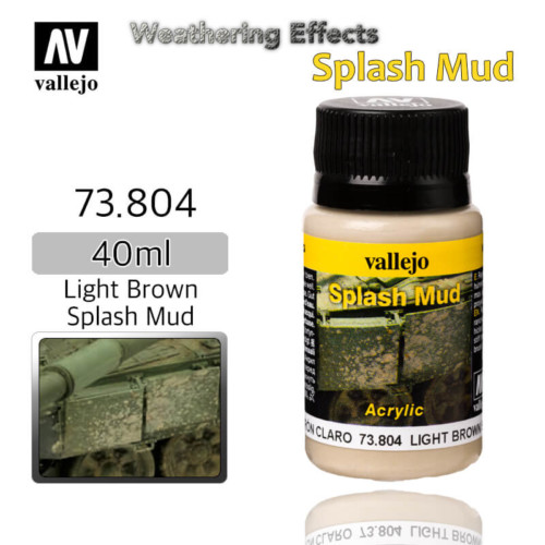 Vallejo 73804 Light Brown Splash Mud Weathering Effects