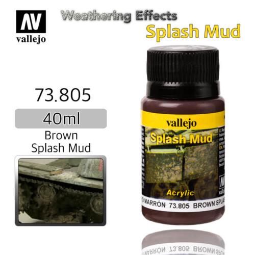 Vallejo 73805 Brown Splash Mud Weathering Effects