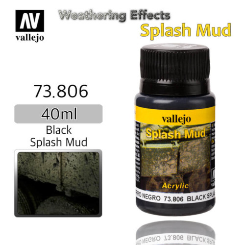 Vallejo 73806 Black Splash Mud Weathering Effects