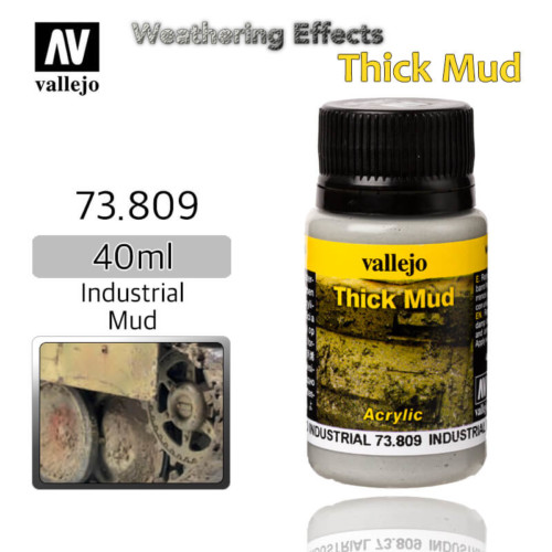 Vallejo 73809 Industrial Thick Mud Weathering Effects