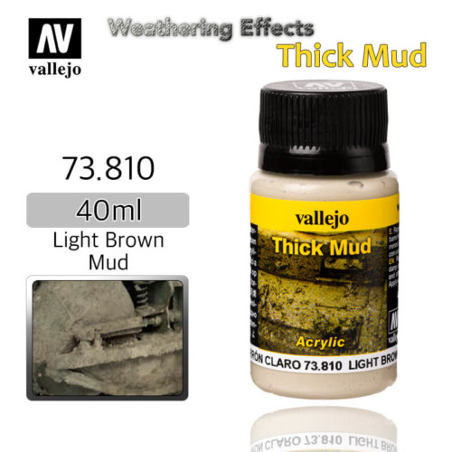 Vallejo 73810 Light Brown Thick Mud Weathering Effects